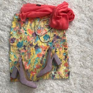 NWOT J. Crew Floral Pencil Skirt